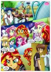 6girls applejack comic equestria_girls equestria_untamed fluttershy friendship_is_magic my_little_pony pinkie_pie rainbow_dash rainbow_rocks rarity sunset_shimmer tagme the_dazzlings_revenge