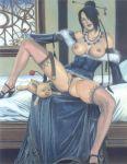 breasts final_fantasy final_fantasy_x flashing legs lulu nipples pussy