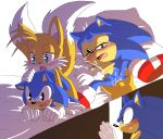 """anal angelofhapiness anthro blush canine duo fox fur furry green_eyes hedgehog male male/male mammal miles_""""tails""""_prower penetration penis sega sex sonic_freestyle sonic_the_hedgehog square_crossover video_games"""