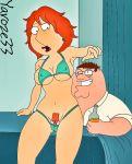 beer bikini breasts drunk family_guy fingering fondling lois_griffin nipples orange_hair peter_griffin pubic_hair rape redhead yaroze33_(artist)