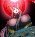 1girl big_breasts breasts colored giantess kaguya_otsutsuki maniacpaint milf naruto nipples oddrich