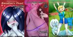 adventure_time fionna_the_human flame_princess ice_queen marceline misadventure princess_bubblegum