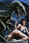 ass claire_dearing dinosaur female female_human heels jurassic_world partially_clothed raptor snugpug tagme