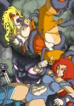 abs anthro big_breasts breasts catgirls cheetara furry genderswap lion-o tentacle thundercats two_girl