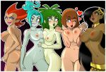 5girls belly breasts danny_phantom desiree ember_mclain madeline_fenton midriff navel penelope_spectra rodjim