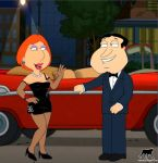 dress family_guy glenn_quagmire gloves lois_griffin luberne shoes tagme