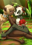 2_girls anthro ecaflip feline furry panda pandawa tagme wakfu yuri yuri_haven