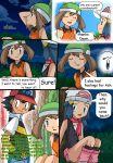 1boy 2girls art ash_ketchum blush comic dawn english hair haruka_(pokemon) haruka_(pokemon_emerald) hikari_(pokemon) hikariangelove hikariangelove_(artist) may multiple_girls nintendo pokemon pokemon_(anime) satoshi_(pokemon) smile speech_bubble talking