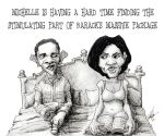 barack_hussein_obama comic lol michelle_obama monochrome political_humor politics sexual_humor