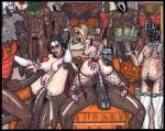 2girls alcohol anal bbc black_guy black_hair blonde_hair butler dark_skinned_male devil devil_horns feet fishnets gimp girl_on_top group_sex halloween high_heels interracial mask orgy pawg ponytail pumpkin reverse_cowgirl soles stockings theseus9_(artist) toes vampire werewolf