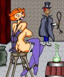 ass bondage breasts gag jane_jetson nipples rope stockings the_jetsons whip