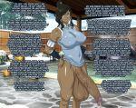 avatar:_the_last_airbender big_penis blue_eyes brown_hair brown_skin dark_skin elzi futanari hair intersex korra penis text the_last_airbender:_the_legend_of_korra