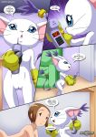 2_girls digihentai digimon digimon_rules2 gatomon kari_kamiya tagme