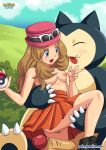 breast poke_ball pokemon pokemon_xy pokepornlive serena serena_(pokemon) snorlax straddle