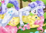 2_girls anthro big_breasts breast_squish breasts equestria_untamed equine eye_contact fluttershy friendship_is_magic horn horse mammal my_little_pony pegasus pony rarity smile tagme unicorn wings yuri