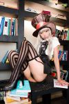 alice_in_wonderland ass cosplay mad_hatter miniskirt non-nude panties sexy stockings upskirt