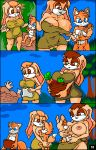 "1girl 2015 anthro areola big_breasts breastfeeding breasts canine comic cream_the_rabbit erect_nipples fox furry huge_breasts lagomorph male mammal mature_female miles_""tails""_prower nipples pussy rabbit sega terrenslks vanilla_the_rabbit"