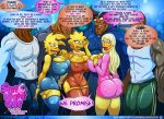 big_ass big_breasts interracial jenny_poussin kogeikun_(artist) lisa_simpson maggie_simpson multiple_girls the_simpsons