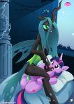2girls equestria_untamed friendship_is_magic multiple_girls my_little_pony queen_chrysalis tagme twilight_sparkle yuri