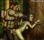 anal anal_sex ass bent_over breasts clone_trooper clothed_male_nude_female from_behind interspecies luminara_unduli mirialan pussy rape revenge_of_the_sith shabby_blue star_wars tied