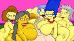 big_ass big_breasts big_penis edna_krabappel harem helen_lovejoy luann_van_houten manjula_nahasapeemapetilon marge_simpson maude_flanders maxtlat milf the_simpsons