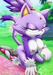 1girl anthro blaze_the_cat breasts feline mobius_unleashed sega sega tagme