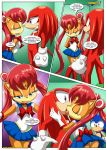 comic kissing knuckles_the_echidna mobius_unleashed palcomix parody sailor_moon sally_acorn sonic_the_hedgehog the_luna_connection