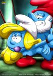1girl blue_skin bondage breasts palcomix sex smurfette tagme the_smurfs