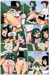 2girls all_fours anal_fingering anus artist_request ass bisexual black_hair blush bottomless breast_grab breasts closed_eyes comic crossover cum cum_on_ass cum_on_lower_body cum_on_thighs cumshot danny_fenton danny_phantom doggy_position facesitting from_behind goth green_eyes gwen hair hairless_pussy kissing lipstick looking_back multiple_girls nipples no_bra no_panties open_mouth outside penis purple_eyes pussy pussylicking samantha_manson sex shiny_skin shirt shirt_lift short_hair sideboob smile socks spread_legs teeth testicles text thighs threesome tongue total_drama_island two_tone_hair