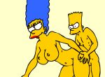 big_ass big_breasts blue_hair fuck gif hentai incest marge_simpson mom_son mother_&_son mothers_duty nickartist the_simpsons