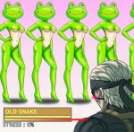 1boy beast-gamer's_sigh blush frogs_(metal_gear) frogs_(mgs) kerotan konami lowres metal_gear metal_gear_(series) metal_gear_solid metal_gear_solid_4 old_snake parody personification solid_snake what