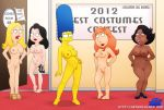 2012 american_dad big_ass big_breasts big_hips breasts crossover donna_tubbs family_guy francine_smith hayley_smith lois_griffin marge_simpson milf the_cleveland_show the_simpsons yellow_skin