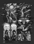 comic eliana-asato_(artist) furry futanari insemination intersex monochrome payoff tentacle