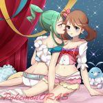 2_girls blush lisia may pokemon pokemon_oras smile tagme yuri