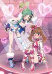 2_girls artist_request blush lisia may pokemon tagme yuri