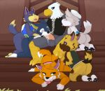 anal animal_crossing anthro apollo_(animal_crossing) avian balls bird canine chief_(animal_crossing) cum cum_in_mouth cum_inside digital_media_(artwork) eagle erection fang_(animal_crossing) fellatio from_behind_position furry group group_sex harem interspecies kyle_(animal_crossing) lobo_(animal_crossing) male male/male mammal nintendo oral oral_penetration orgy penetration penis seth-iova sex video_games wolf wolfgang_(animal_crossing) worship