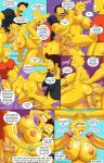 arabatos comic darren's_adventure lisa_simpson salem89_(artist) spitroast_position tagme the_simpsons yellow_skin