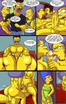 arabatos comic darren's_adventure marge_simpson patty_bouvier salem89_(artist) selma_bouvier tagme the_simpsons yellow_skin