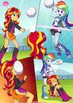 2_girls equestria_girls equestria_untamed friendship_is_magic humanized my_little_pony physical_education rainbow_dash sunset_shimmer