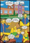 bart_simpson big_breasts breasts comic croc_(artist) edna_krabappel english marge_simpson maude_flanders milf the_simpsons yellow_skin