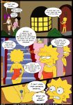 bart_simpson big_breasts breasts comic croc_(artist) english lisa_simpson marge_simpson milf the_simpsons yellow_skin