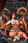 alien breasts brown_hair garrett_blair_(artist) nipples princess_leia_organa star_wars tentacle torn_clothes wet