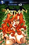 breast_grab dc_comics garrett_blair_(artist) poison_ivy red_hair topless