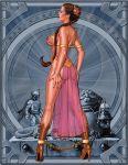 ass boba_fett brown_hair jabba_the_hutt princess_leia_organa see_through sideboob slave_leia star_wars