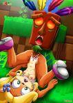 aku-aku breasts coco_bandicoot crash_bandicoot_(series) female furry palcomix tagme