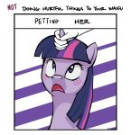 1girl blush disembodied_hand duo english_text equine feral friendship_is_magic gif hair high_res horn hornjob looking_up mammal multicolored_hair my_little_pony open_mouth purple_eyes steve_(artist) suggestive text twilight_sparkle unicorn waifu_chart