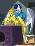 1girl anthro anthrofied breasts equine eyewear friendship_is_magic furry grin horse male male/female mammal my_little_pony nipples nude open_mouth pegasus pony sex siberwar soarin_(mlp) spitfire_(mlp) sunglasses tongue tongue_out wings wonderbolts_(mlp)