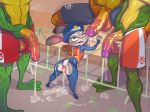 1girl 2016 after_sex amphibian anthro anus areola battletoads breasts crossover cum cum_in_ass cum_inside cum_on_face disney erection furry gaping gaping_anus half-erect holding_penis judy_hopps lagomorph male mammal penis pimple_(battletoads) rabbit rash_(battletoads) testicles toad turk128 video_games zitz_(battletoads) zootopia