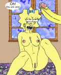 bart_simpson big_penis breasts cum huge_penis maggie_simpson nipples penis pussy rape sbb the_simpsons yellow_skin