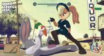 1girl absurd_res acorn_art anthro bugs_bunny crossover franklin_clinton furry grand_theft_auto_v gta high_res lola_bunny looney_tunes male male/female michael_de_santa space_jam trevor_philips warner_brothers
